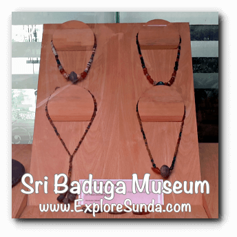 Accessories found from archaeological site is displayed in Sri Baduga Museum, Bandung.