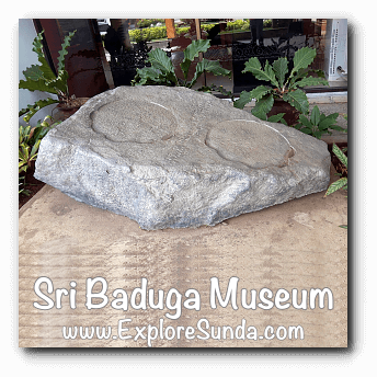 Tapak Gajah Inscription in Sri Baduga Museum, Bandung