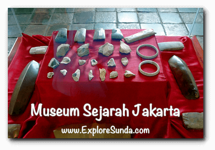 Flake tools from Neolithic era, artifacts at Jakarta History Museum