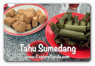 The famous and delicious tofu from Sumedang.