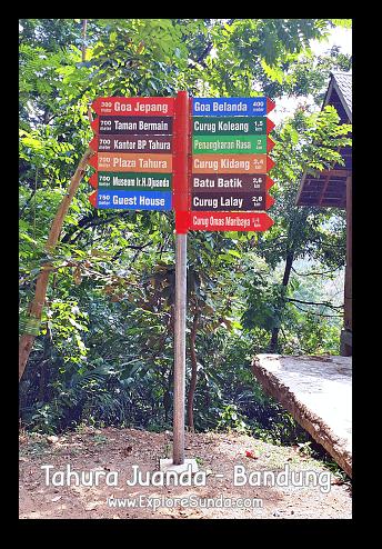 Directions at Taman Hutan Raya Ir. H. Djoeanda | TahuraJuanda - DagoPakar, Bandung.