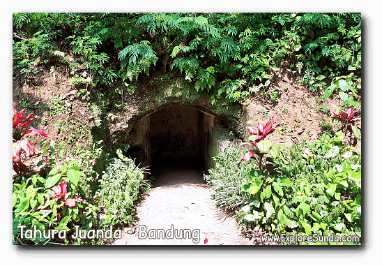 One of the entrances to the Japanase bunker called Goa Jepang in Tahura Juanda, Dago Pakar, Bandung.