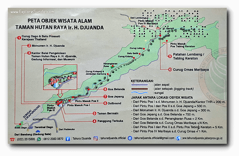The map of Tahura Juanda, which you can find at the back of the entrance ticket.