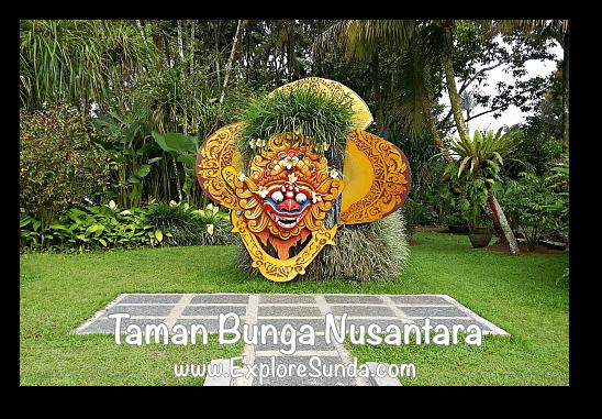 Balinese Garden at Taman Bunga Nusantara in Cipanas, Puncak