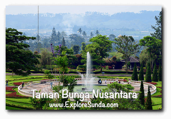 The fountain at Taman Bunga Nusantara in Cipanas, Puncak