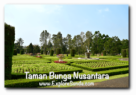 French Garden at Taman Bunga Nusantara in Cipanas, Puncak