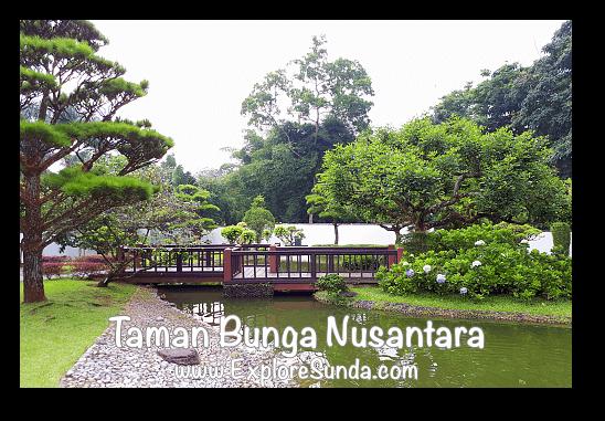 Japanese Garden at Taman Bunga Nusantara in Cipanas, Puncak