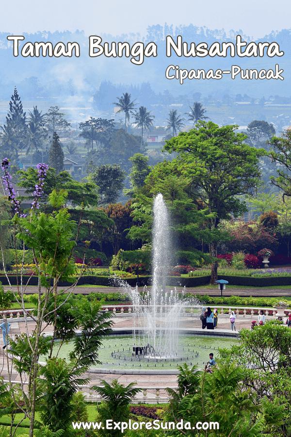 Explore Taman Bunga Nusatara in Cipanas Puncak | See the beautiful flower garden with its many themes and topiaries: Balinese, Japanese, French, Mediterranean, and Rose Gardens | #ExploreSunda
