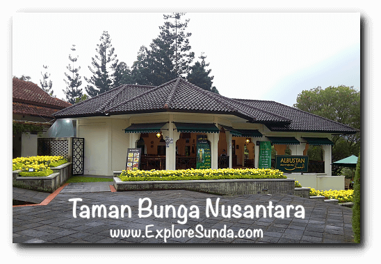 Albustan Resto & Coffee Shop at Taman Bunga Nusantara in Cipanas, Puncak