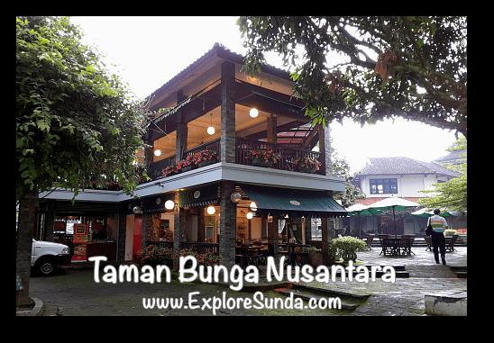 Marigold Cafe & Hana Resto at Taman Bunga Nusantara in Cipanas, Puncak