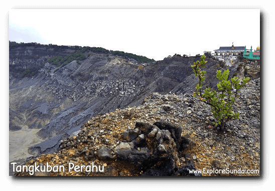 The side of Kawah Ratu [Queen Crater] in mount Tangkuban Perahu, Lembang.