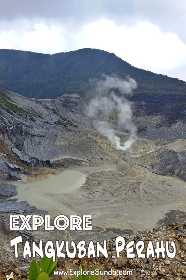 Let's explore mount #TangkubanPerahu at #Cikole #Lembang | #ExploreSunda.com