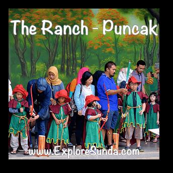 Children archery at The Ranch in Cisarua, Puncak