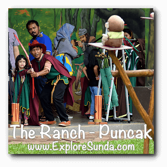 Children archery at The Ranch in Cisarua, Puncak