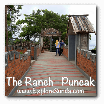 Castle Wall that leads to Jembatan Dongeng (Fairy tale bridge) at The Ranch in Cisarua, Puncak