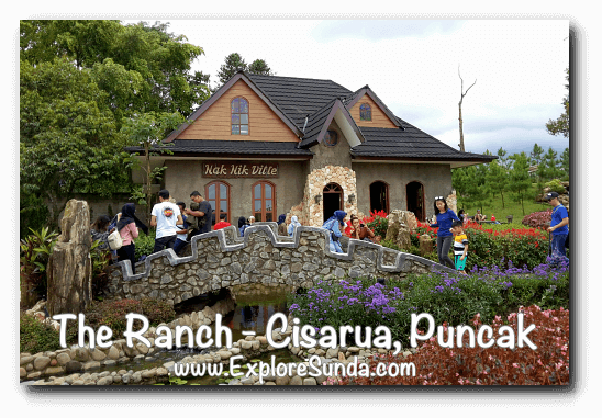 The beautiful view of the souvenir shop at The Ranch in Cisarua Puncak