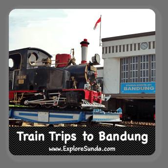 Train trip to Bandung, Indonesia.