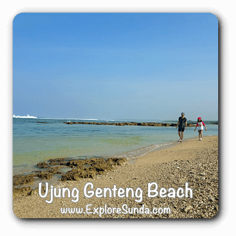 Ujung Genteng Beach, the gate to Green Turtle Conservatory in Pangumbahan beach.