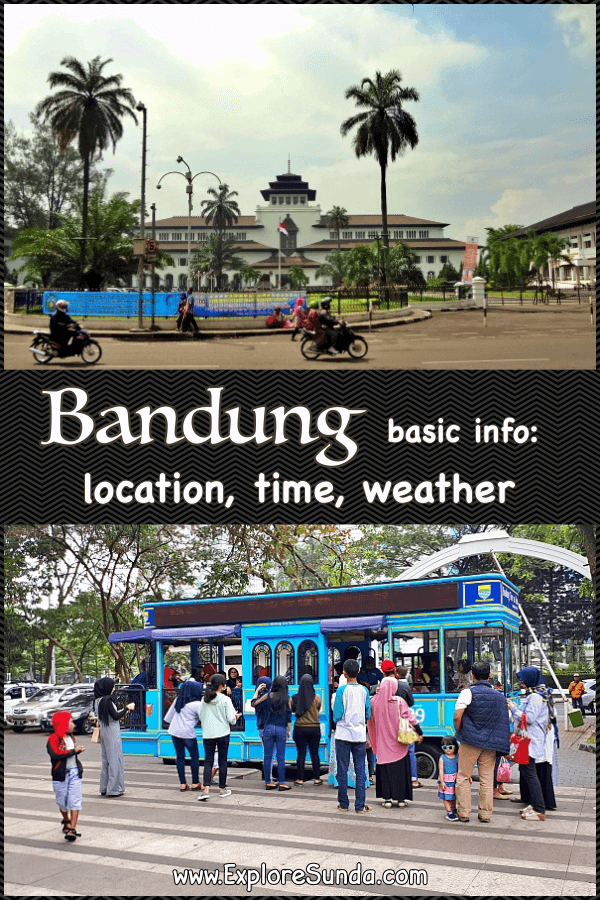 Bandung: Location, Weather and Time.