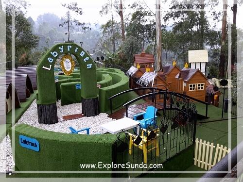 Rabbit Labyrinth at Dusun Bambu,  Cisarua - Lembang