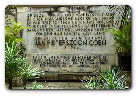 Tombstone of Governor General Jan Pieterszoon Coen in Museum Wayang