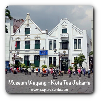 The historical building of Museum Wayang (Puppet Museum) at District Museum, Kota Tua Jakarta